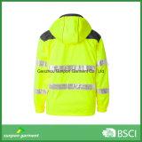 Hohe sichtbare Sicherheits-Umhüllung mit 3m reflektierender Band-Arbeitskleidung