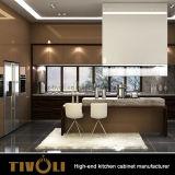 安価なブラウンの台所食器棚の家具(Tivo-0039h)