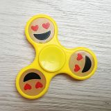 Silicon ABS Plastic Lighting Sourire Face Luminous Hand Fidget Spinner