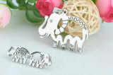 Colar Shaped do pendente do Natal do aço inoxidável do elefante de prata da jóia