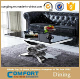 2016 Living Room Furniture Set de mesa de vidro quadrado