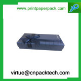 Ciambella personalizzata lusso del contenitore di regalo del cartone del pacchetto dello spuntino con l'arco
