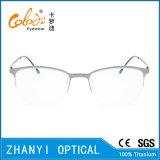 Рамка облегченных Semi-Rimless Titanium стекел Eyeglass Eyewear оптически (8118)