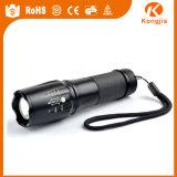 Ultra brillante XML-T6 LED 18650 recargable de aluminio zoom táctico linterna G700