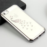 Caixa de galvanização do telefone móvel do diamante TPU do luxo