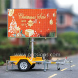 Panneau de message variable LED Advertising Vms Trailer Sign, Outdoor Full Color LED Display