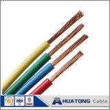 Alambre eléctrico del alambre del PVC del cobre eléctrico revestido del solo hilo