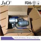 2PC ensanchó vávula de bola del extremo con el postizo de montaje JIS10k
