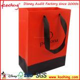 Kundenspezifische Einkaufstasche mit Silk Zeichenkette-Griff ISO9001: 2015