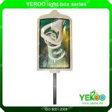 Borne material da lâmpada da tela de vidro da rua que anuncia o indicador