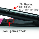 다중 배럴 크기를 가진 베스트셀러 LCD 디스플레이 살롱 머리 직선기