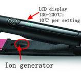 Утюг ходких волос салона LCD плоский с множественным размером бочонка