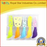 los cuchillos del queso 5PCS fijaron la cocina colorida del diseño que cocinaba las herramientas