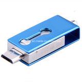 Mini USB Pendrive del teléfono del eslabón giratorio del USB del palillo impermeable de la memoria