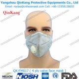 Дыхательная маска клапана Fpp2 створки безопасности медицинских оборудований плоская