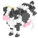 les blocs animaux de série de nécessaire du bloc 14889127-Micro ont placé le jouet éducatif créateur 150PCS - vache de DIY
