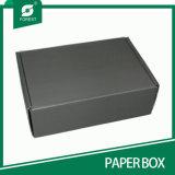 Black Corrugated Flute Board (não plástico) com Foam Insert - Flat Packed