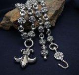 Iris Grain Pendant Necklace Titanium Steel Punk Men's