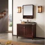 Шкаф зеркала ванной комнаты твердой золы деревянный водоустойчивый (GSP14-014)