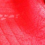 Jacquardwebstuhl-chinesischer roter Hochzeits-Kleid-Spitzenformspandex-Jacquardwebstuhl