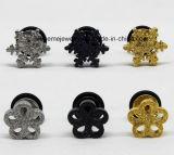 Nagel van het Oor van het Plateren van het Roestvrij staal van de Juwelen van de Manier van Shineme de Gouden