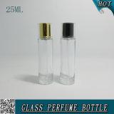 25mlバイオネットの口が付いている透過空のガラススプレーの香水瓶