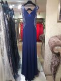 Vestido de noite azul, vestido do partido, vestidos de casamento