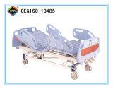 (A-35) Cama de hospital manual de función triple movible con la pista de la base del ABS