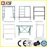 Het Systeem van het Frame van de Steiger van het staal (het Frame van de Metselaar/het Frame/de Gang van de Ladder door Frame)