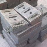 Altas placas de las piezas del desgaste de la trituradora de impacto de Cr/Mn