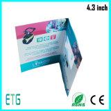 Fördernder LCD-Bildschirm-video Broschüre-Gruß-Karte videoInvitaiton Karte