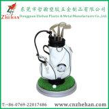 Sostenedor promocional de la pluma del golf del bolso del regalo con el reloj que se coloca en el escritorio