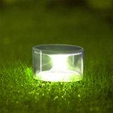 Luz ao ar livre plástica do gramado do jardim do diodo emissor de luz do painel solar da iluminação