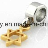 Fascino della stella dei monili dell'oro giallo per la fabbricazione del braccialetto