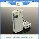 Ordenador móvil industrial, colector de datos con el explorador del código de barras, programa de lectura de RFID
