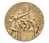 고대 금관 악기 도금을%s 가진 주물 3D 아연 합금 메달을 정지하십시오
