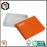 Rectángulo de papel de color de la impresión del regalo cosmético anaranjado mate de la cartulina