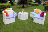 Kreatives PET Rattan-Ausgangsdekoration Sofa-Set
