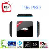 Le meilleur OEM sec T96 de cadre d'Amlogic S912android TV de l'androïde 6.0 de ROM du RAM 16GB du cadre 3GB de l'androïde TV PRO