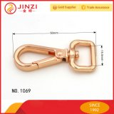 Crochet en alliage de zinc de rupture en métal d'or de Rose de mode pour des sacs à main