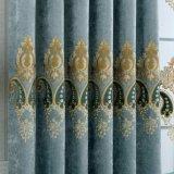 Umweltfreundliches europäisches Art-Polyester-Stickerei-Vorhang-Gewebe (10F0044)