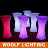 Vector de coctel superior iluminado plástico del LED que brilla intensamente alto