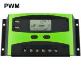 Puerto Nuevo Diseño 30A 12V 24V controlador de carga solar fotovoltaica automático de LCD USB