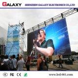 Fijos al aire libre de interior instalan la publicidad de la visualización de alquiler del panel del LED/video de la pared de pantalla