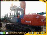 Excavador usado Ex200-3, excavador usado Ex200-3 de la correa eslabonada de Hatachi de la rueda