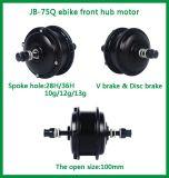 Motor elétrico sem escova da roda dianteira da bicicleta 250W 350W de Czjb Jb-75q