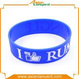 Wristband de borracha personalizado do silicone de Colorfur