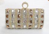 Abend-Beutel handgemachte der Handtaschen-Diamant-Kristallform-Luxuxdame-Rhinestone Glittering