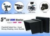 800x480 monitor del campo del LCD de 5 pulgadas para la cámara de vídeo llena de DSLR HD con la entrada de información y la salida de HDMI
