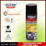 Cera polaca estupenda del aerosol de los productos del cuidado del cuero del coche